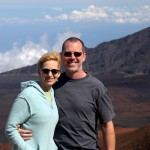 Rox &amp; Shane on top of the world, Haleakala, Maui